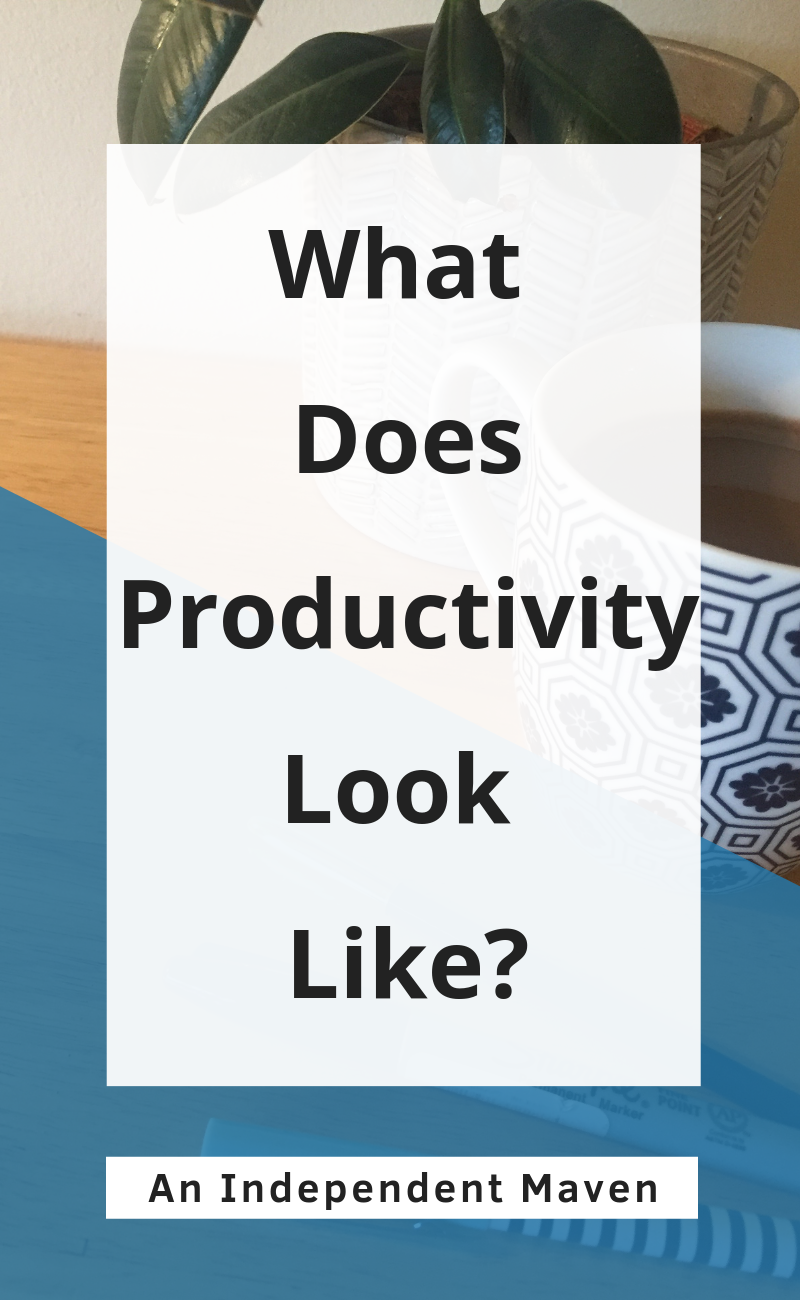 Productivity is about the whole system that is making you effective.