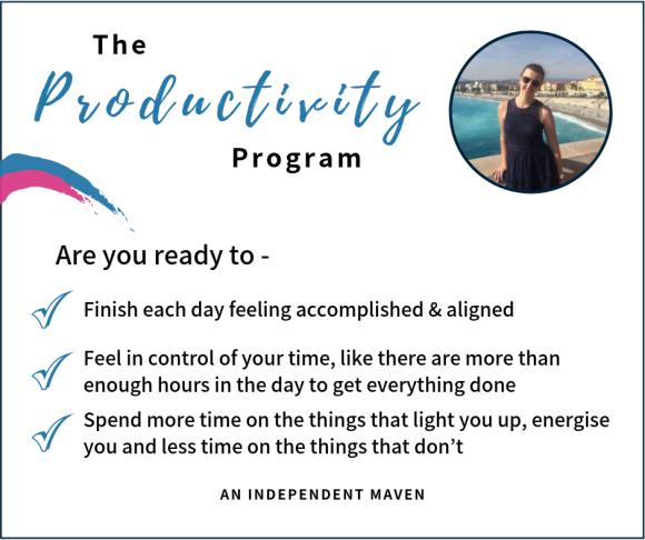 FB The Productivity Program banner