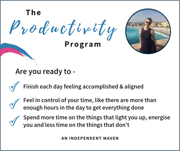 FB The Productivity Program banner