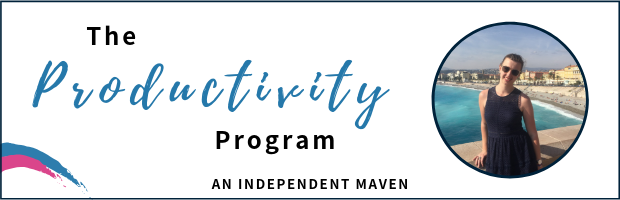 The Productivity Program banner
