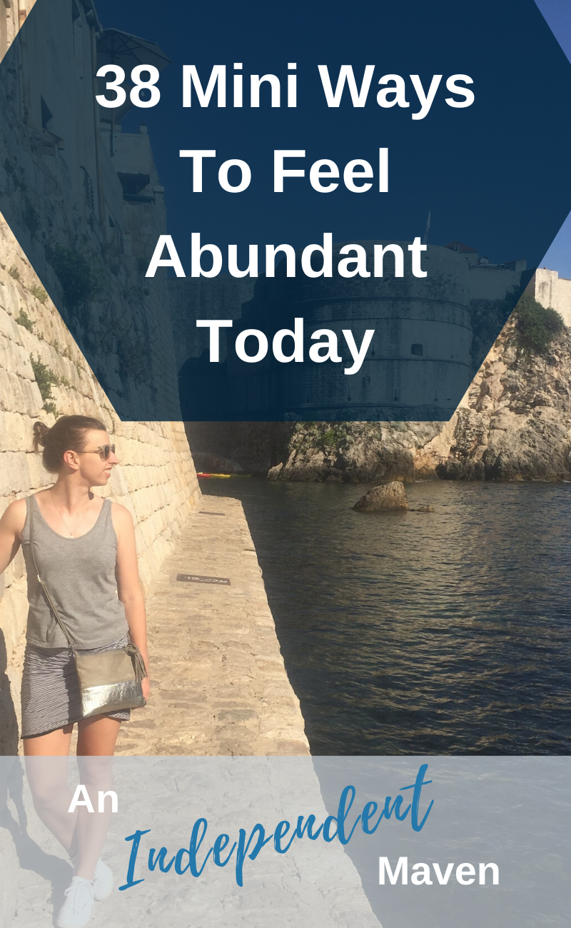 Abundance. Gratitude. High vibes. Energetic match. We get it, it's all good stuff. But when you've had a tough day at work and the bills are due we don't always FEEL abundant. Here are 38 super simple ways to get into your abundant groove so you're ready to receive even more of life's greatness!