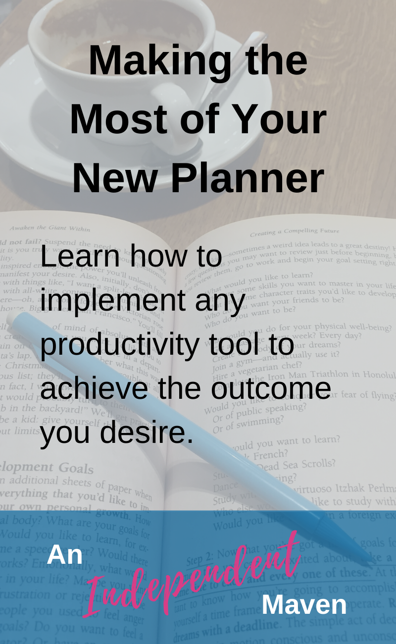 Every new productivity tool comes with the excited expectation of transformation. By how often do we end up bitterly disappointed that this tool wasn't the game changer? Here are my top tips and simple suggestions on how to effectively implement your new planner to be more organised, less stressed, better time management, all of the desired outcomes.