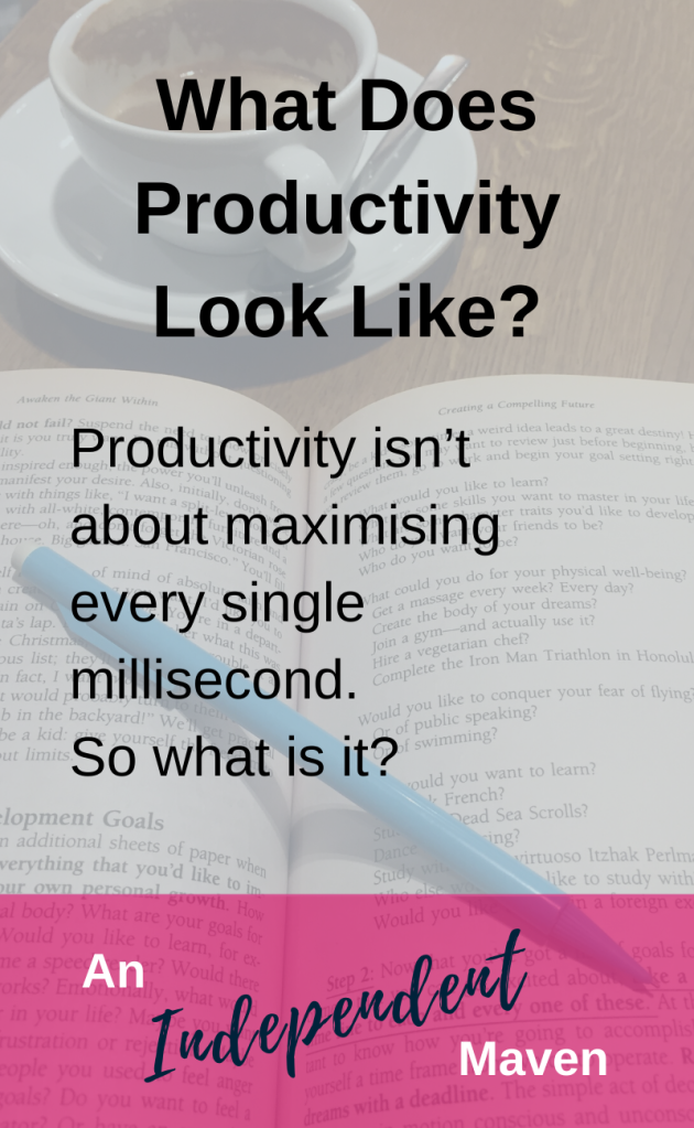 Productivity is getting stuff done. Productivity is being effective. Productivity is working long hours. Productivity is doing more than other people. Productivity is staying on task. Productivity is being constantly motivated. What if you defined productivity for yourself? Would you choose a more gentle, sustainable, loving definition?