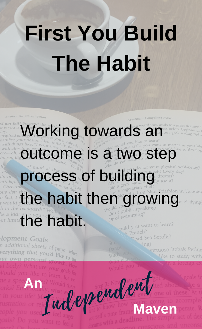 A common mistake when building a new habit is trying to do too much, too soon. A simple way to ensure the success of your habit is to focus on establishing the habit and THEN building it up over time. Use this easy approach to enjoy a higher success rate with maintaining habits.